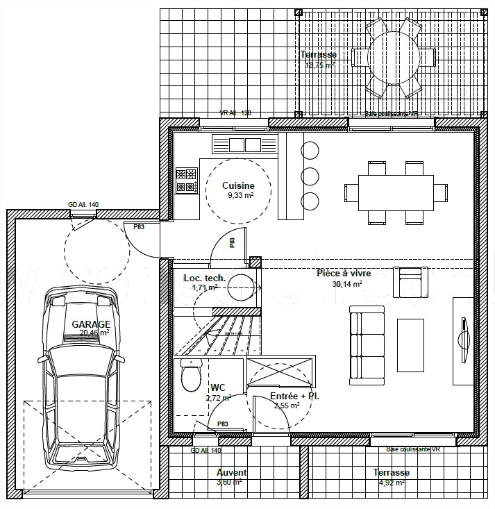 virtual plan 3d plan demo australe. Black Bedroom Furniture Sets. Home Design Ideas